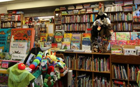 Children's book section at Chaucer's Books