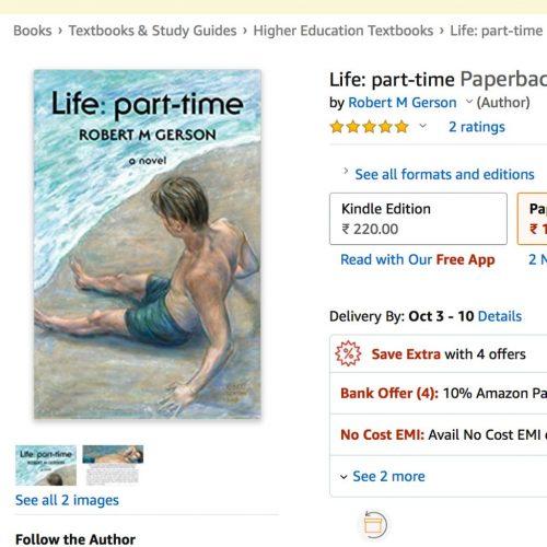 screenshot of Life: part-time novel listed at amazon india