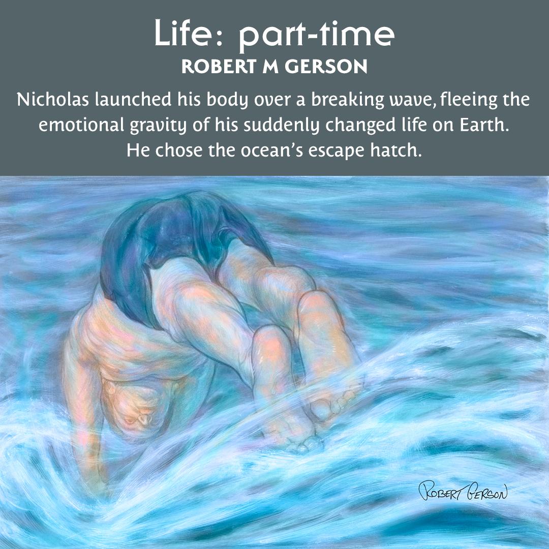 Life: part-time illustrations, dive into the ocean at Santa Barbara