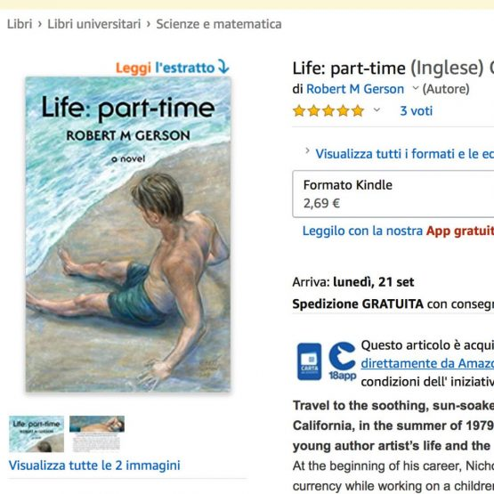 screenshot of Life: part-time at Amazon Italy