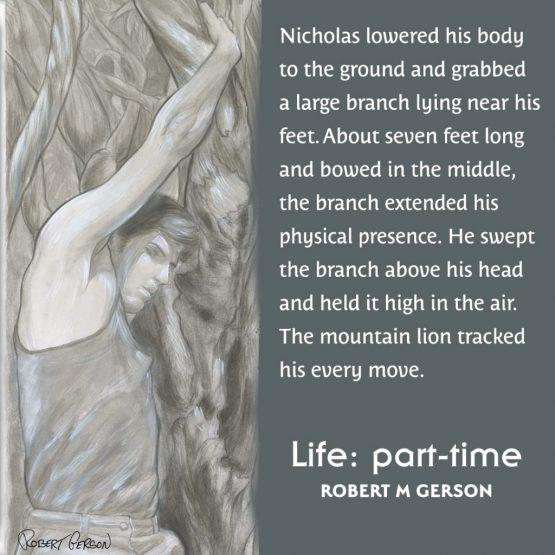 Ink wash artwork Robert Gerson Santa Barbara Canyon Hike